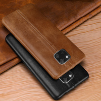 First layer cowhide stitching Business Genuine Leather case cover For Huawei Mate 20 Pro ,Mate 20 X , Mate 20 Suture Black brown