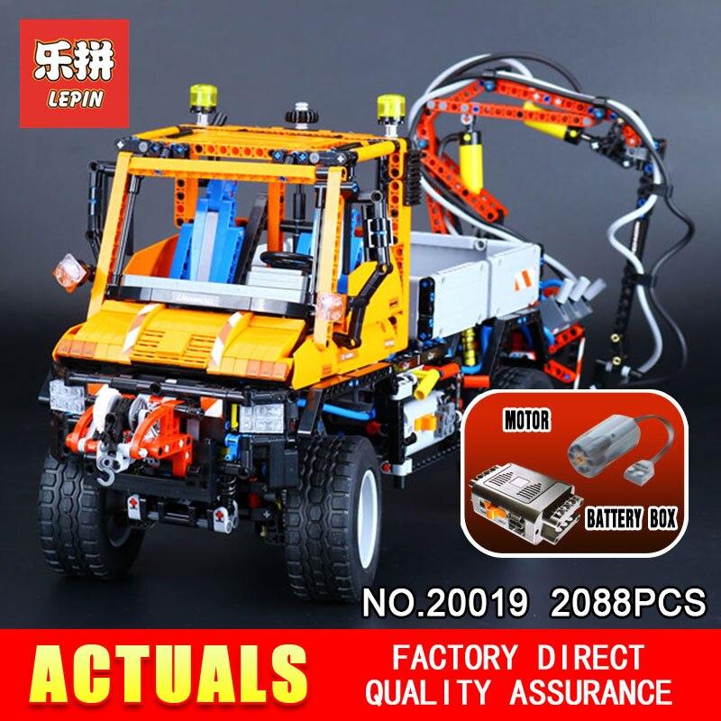 LEPIN 20019 Technique série 2088 pcs Mécanique voitures unni moine Modèle blocs de Construction Briques Compatible avec 8110 Jouet pour les garçons cadeau