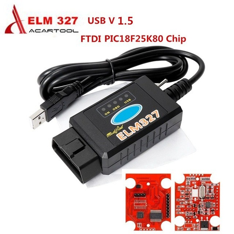 OBD2 Modified USB PIC18F25K80 ELM327 V1.5 For FORScan/Elmconfig With Switch HS-CAN/MS-CAN OBD2 Scanner Scanner Automotriz
