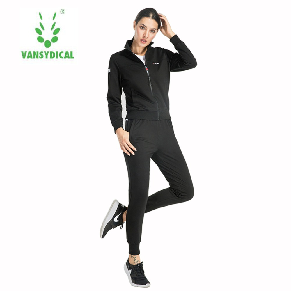 vansydical cotton sets 3pcs womens jacket tops pants