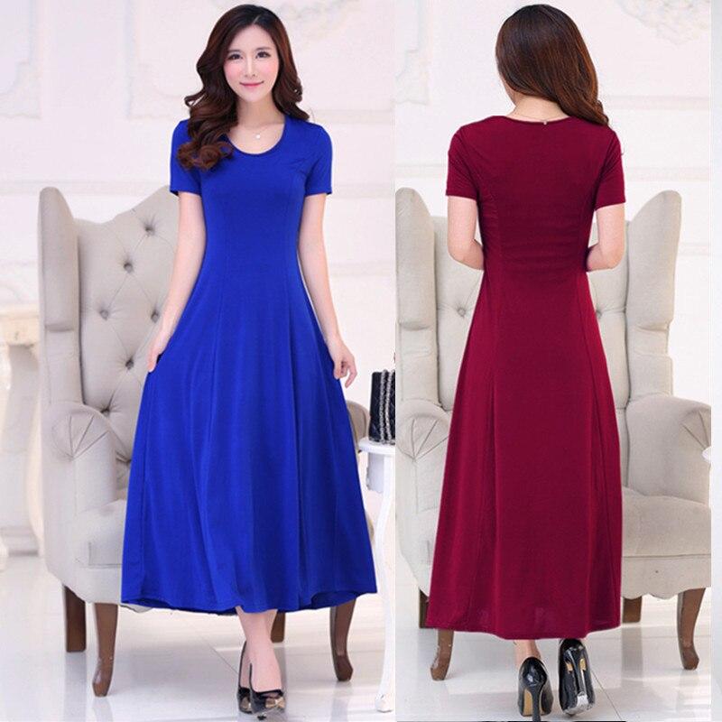 Summer Dress Women 2018 Fashion Casual Maxi Dress Plus Size Black