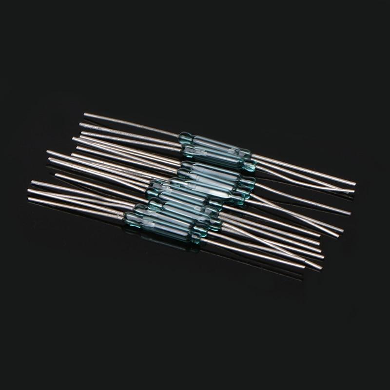 Новый 10 шт. 2,5X14 мм 4 Вт 3 Pin Стекло геркона магнитные выключатели N/O N /C SPDT Лидер продаж
