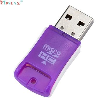 Mosunx cena fabryczna wysokiej prędkości Mini USB 2 0 Micro SD TF T-Flash czytnik kart pamięci 0307 Drop Shipping tanie i dobre opinie Pojedyncze Karta SD Zewnętrzny LZJ70217764 Plastic by USB port directly Purple