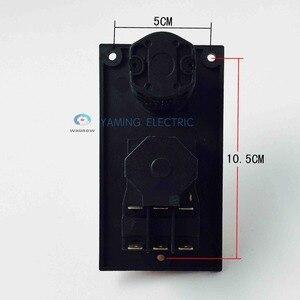 Image 4 - الكهرومغناطيسية التبديل 7 دبوس on off التبديل الروتاري مجتمعة 16a 230 فولت مع غطاء حماية قفل للماء YCZ4 C