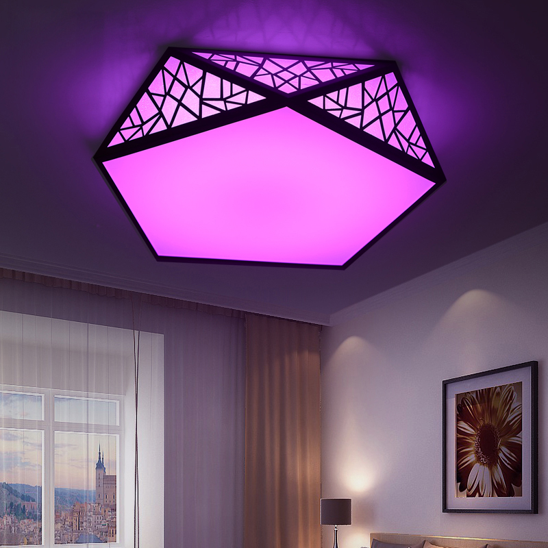 RGB led ceiling light with remote controller multicolor ceiling ...