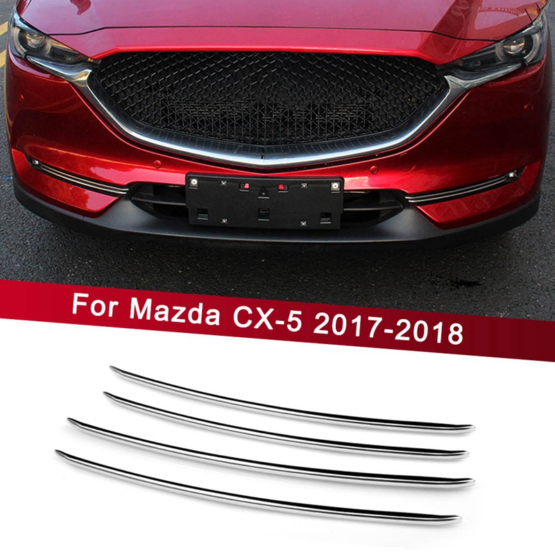 For <font><b>Mazda</b></font> Cx-5 <font><b>Cx5</b></font> 2017 2018 Accessories Car Front <font><b>Fog</b></font> <font><b>Light</b></font> Trim Strips Decoration <font><b>Cover</b></font> Exterior Chromium Styling image