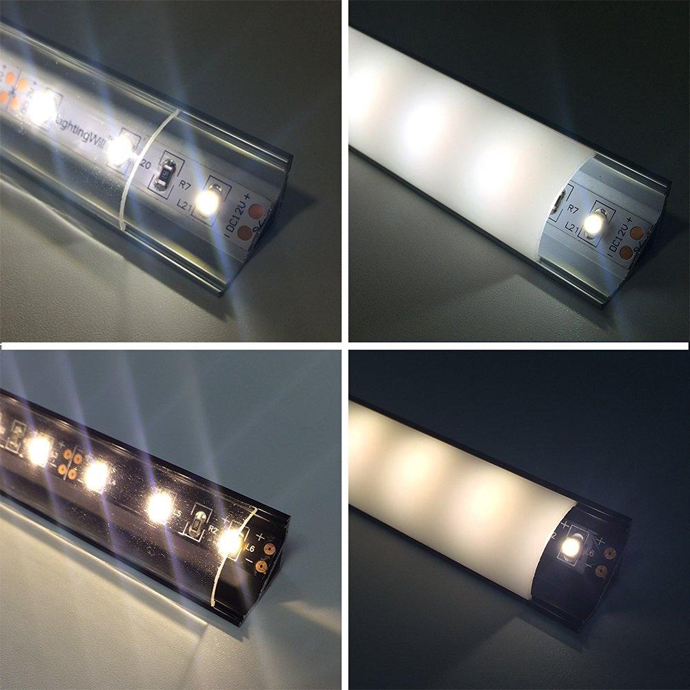 5 սեթ / լոտ 5x1M (3.3ft) Սև LED ալյումինե - LED լուսավորություն - Լուսանկար 6