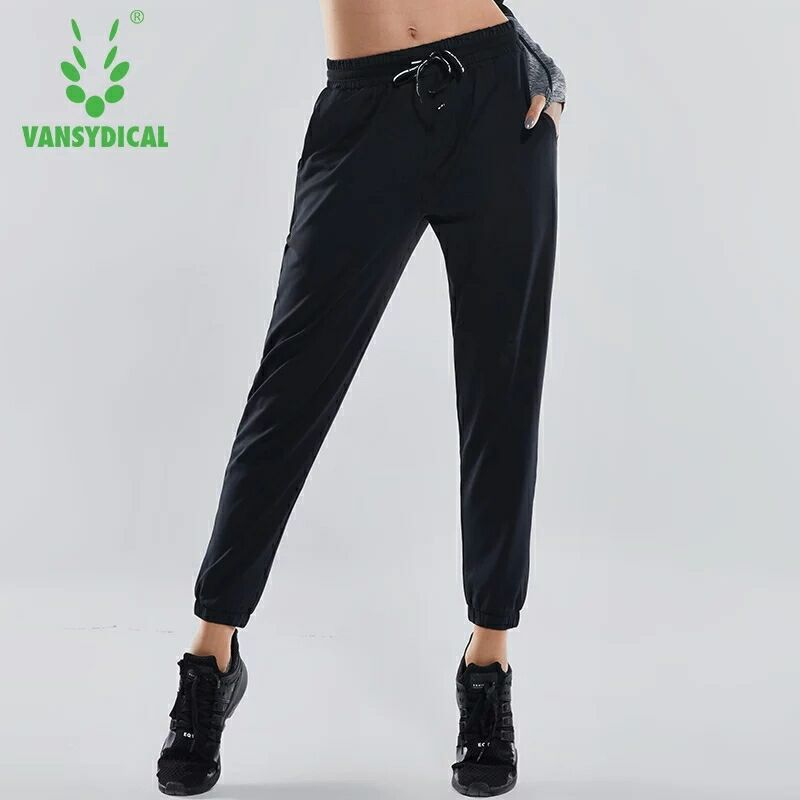 2018 Women Elastic Waist Running Jogging Pants Breathable Training Trousers Female Autumn Loose Exercise Sports Pants Yoga Trous ...