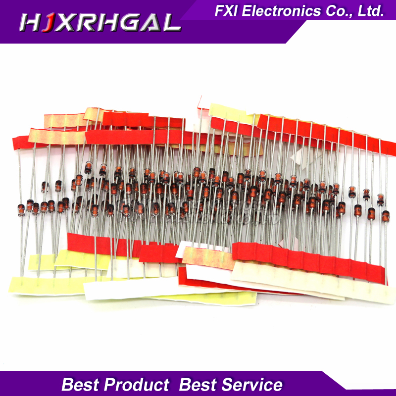 14values*10pcs=140pcs 0.5w Regulator 3.3v-30v 1/2w Zener Diode Component Assorted Kit Package New And Original Active Components Integrated Circuits