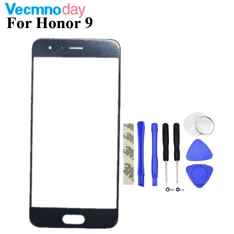 Vecmnoday New High Quality Touch Panel Screen For Huawei Honor 9 Touchscreen Replacement Front Outer Glass Lens No LCD Tools