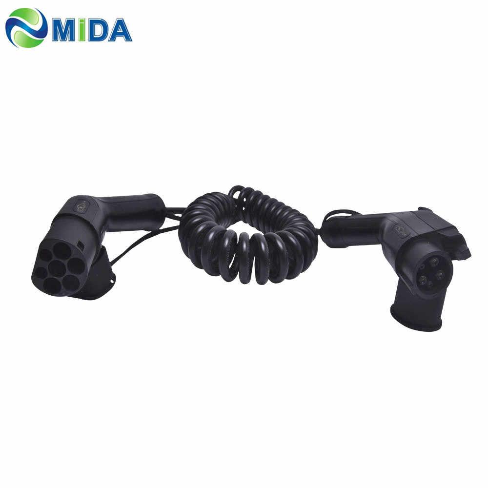 5 метров 32Amp SAE J1772 подключение электромобиля IP65 Тип 1 до Тип 2 кабель для зарядки аккумулятора с евровилкой зарядное устройство для автомобилей EV вилка зарядное устройство для электромобиля паяльная станция