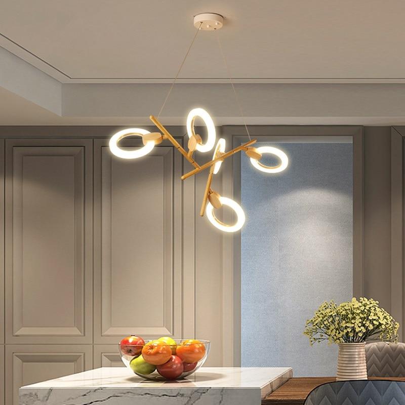 Modern LED chandelier ceiling Nordic illumination bedroom suspended lamps home deco lighting fixtures living room hanging lights