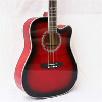 41 47 NEW 41 inch glossy paint red color Acoustic Guitar Rosewood Fingerboard guitarra with tuner strings