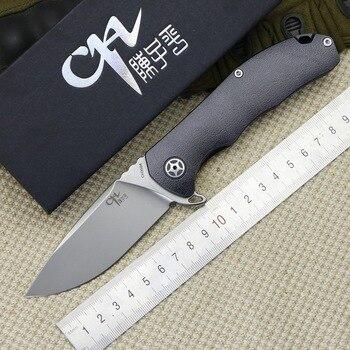 Nuevo cuchillo plegable CH3504 S35VN con diseño de calavera y mango de titanio, cuchillo de caza al aire libre para acampar, herramientas de escalada EDC