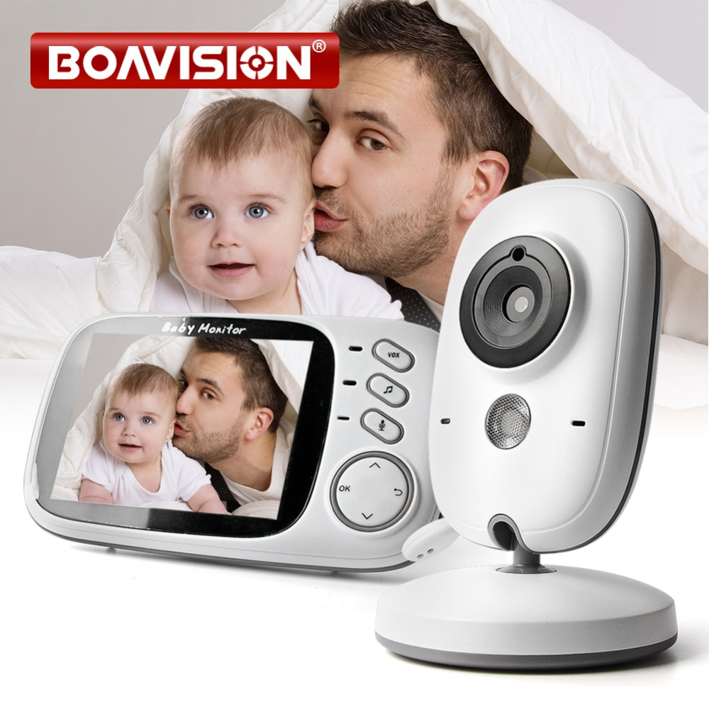 Image 1 - 3.2 Inch Color LCD Wireless Video Baby Monitor Night Vision 5m Nanny Monitor Bebek Lullabies Surveillance Security Camera VB603-in Baby Monitors from Security & Protection
