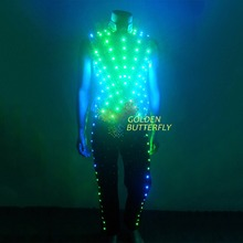 LED Clothing Glowing Luminous Suits Costumes 2015 Hot Fashion Twinkle Star Men LED Clothes Pants Dance Accessories Free Shipping