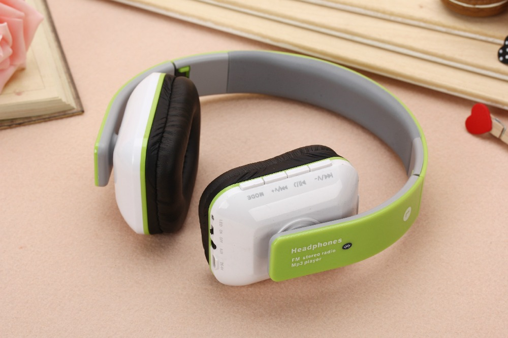 JKR-202B Wired Stereo Music Headband Headset Portable Foldable Headphones Support TF FM Radio call for Smartphones PC #B4