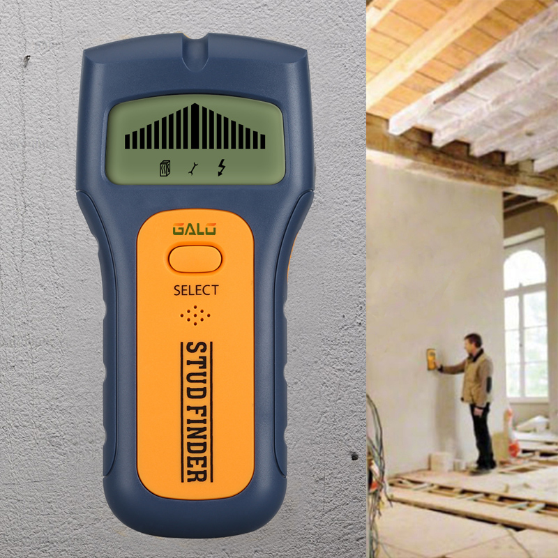 Wood Metal Wall Detector Multimeter Digital Pinpointer Vibrator Multi Stud Scanner Live Wire Cable Finder AC Hot 3 in 1 цена