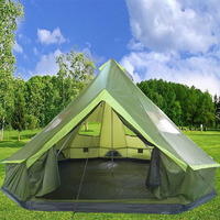 Huge 8 10 12 Person Mongolia Glamming Yurt Family Sun Shelter Travel Awning Hiking Canopy Beach Relief Outdoor Camping Tent