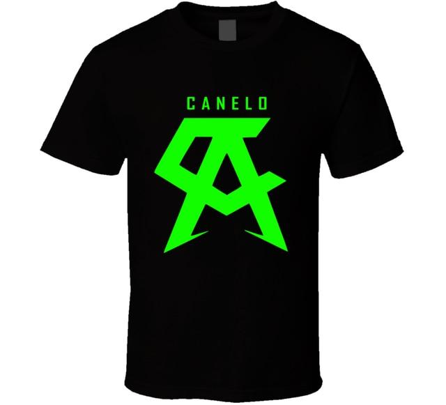 Canelo Alvarez Boxing Logo Black White Tshirt Mens T Shirt Free