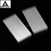 2PCS Gdstime 100x45x10mm Aluminium Radiator Heatsink Heat Sink 100mm x 45mm 10mm 40120026 aluminum heatsink radiator black 37 x 37 x 3mm