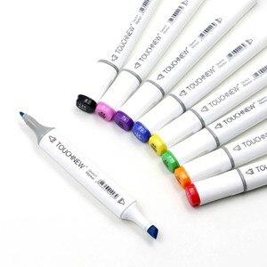 Image 1 - Touchnew Набор цветных маркеров для копирования, спиртовая фотография, ручка для рисования манги, набор акриловых дизайнерских ручек для студентов