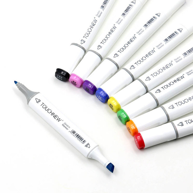 Touchnew Набор цветных маркеров для копирования, спиртовая фотография, ручка для рисования манги, набор акриловых дизайнерских ручек для студентов