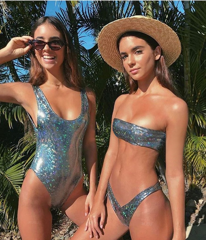 176b0e37605 Swimwear Women 2018 Sequins One Piece Backless Swimsuit Sexy Thong Bathing  Suit Push Up Swimming Maillot