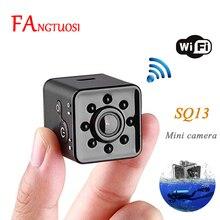 Fangtuosi mini câmera sq13, wi fi, hd 1080p, sensor de vídeo, visão noturna, micro filmadora, gravador de movimento sq 13