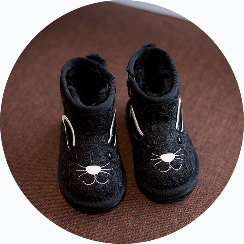 Animal embroidery girls snow boots girls warm boots with fur black grey girls  winter boots winter shoes for kids boots-in Boots from Mother   Kids on ... fb8c7c32455c