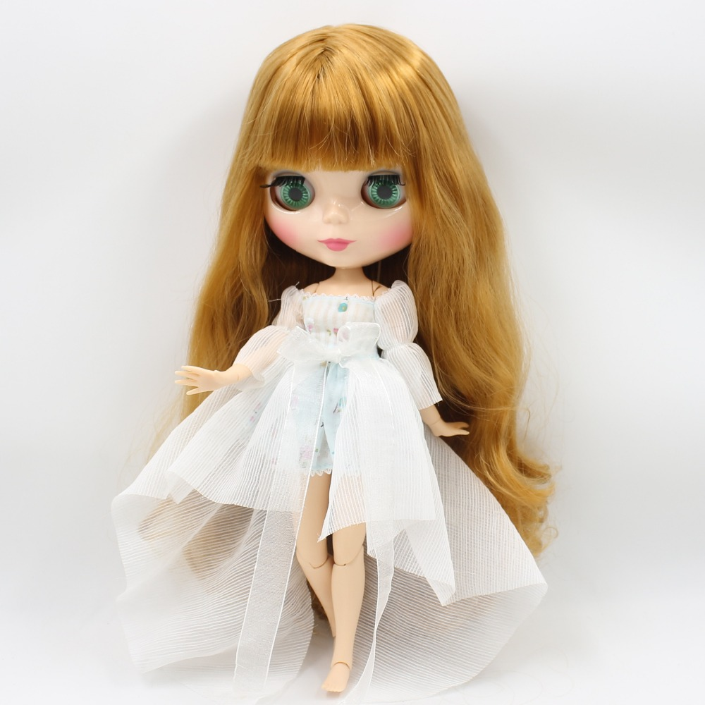 Neo Blythe Doll with Blonde Hair, Natural Skin, Shiny Face & Jointed Body 3