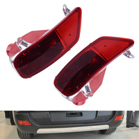 beler 1 Pair Left Right Bumper Rear Tail Fog Light Lamp Cover Case Shell For Peugeot 3008 2009 2010 2011 2012 2013 2014 2015