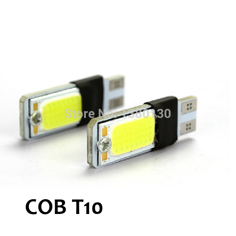 2Xhigh power t10 w5w led cob car led t10 5w5 12v t 10 bule white car fog lights parking interior light w5w t10 canbus error free
