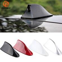 Posbay автомобильная антенна в виде акульих плавников на крыше, красные/белые/черные/серые/Серебристые антенны, автоматическое украшение крыши, пустышки, антенны, наклейки