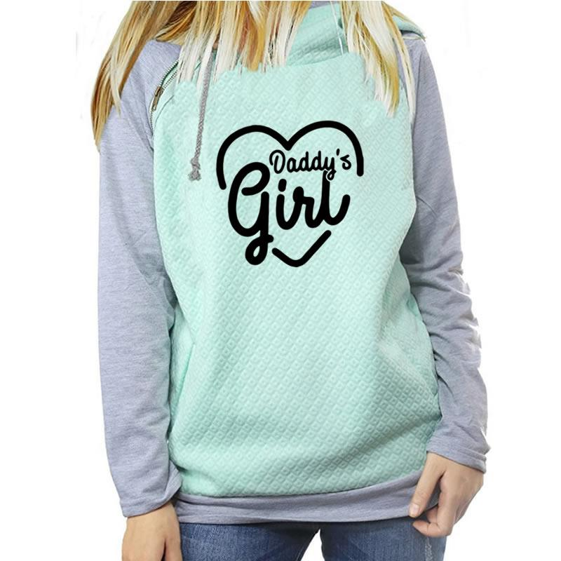 2018 New Fashion Daddy Girl Print Kawaii Hoodies Sweatshirt Femmes Tops Girls Funny Sweatshirts Frauen Youth Plus Size Autumn
