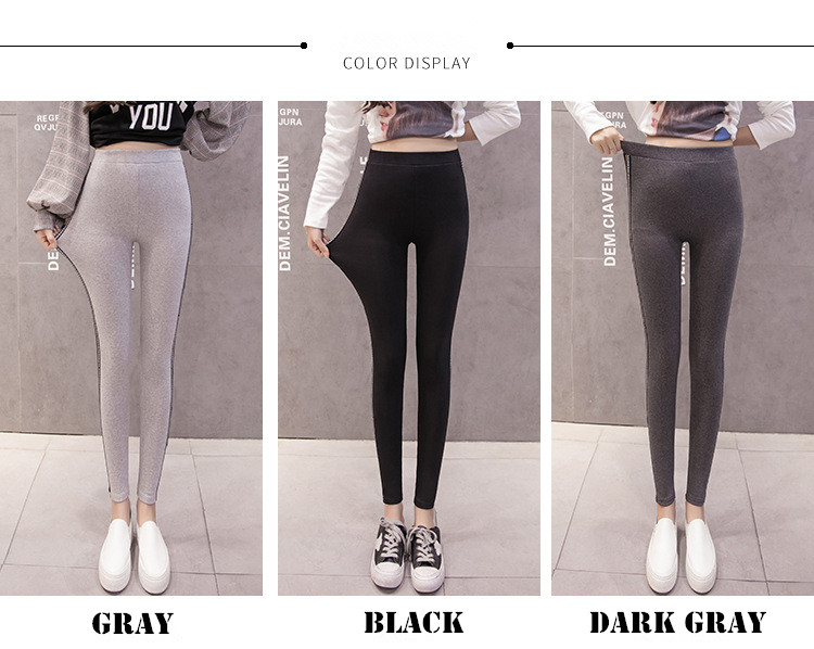 High Quality Cotton Leggings Side stripes Women Casual Legging Pant Plus Size 5XL High Waist Fitness Leggings Plump Female 32