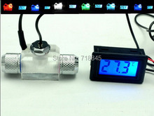 Flow Scout with led light And Digital Thermometer For Water Liquid Cooler System CPU fitting