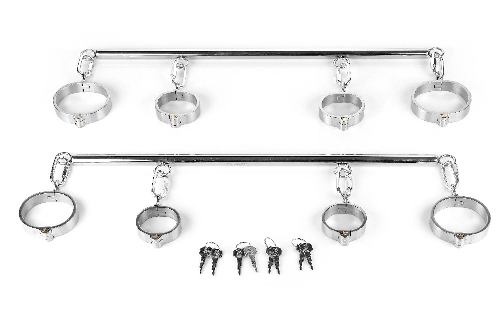 Stainless Steel Handcuffs For Sex+Anklet Cuffs Bondage Harness Bdsm Sex Slave Fetish Wear Metal Handcuffs Sex Games For CoupleStainless Steel Handcuffs For Sex+Anklet Cuffs Bondage Harness Bdsm Sex Slave Fetish Wear Metal Handcuffs Sex Games For Couple