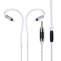 Wooeasy Upgraded 7N Single Crystal Copper Plated Silver Cable 2 5 3 5mm Balanced Cable With