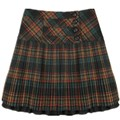 Winter Wool Skirts Women's Autumn High Waist Knee Length Plaid Pleated Skirts Fashion Female Woolen Skirt Plus Size 3XL 4XL 5XL