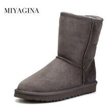 Наивысшего качества зимние ботинки на натуральной овчине для женщин водонепроницаемые зимние ботинки 100% натуральный мех шерсть женские ботинки