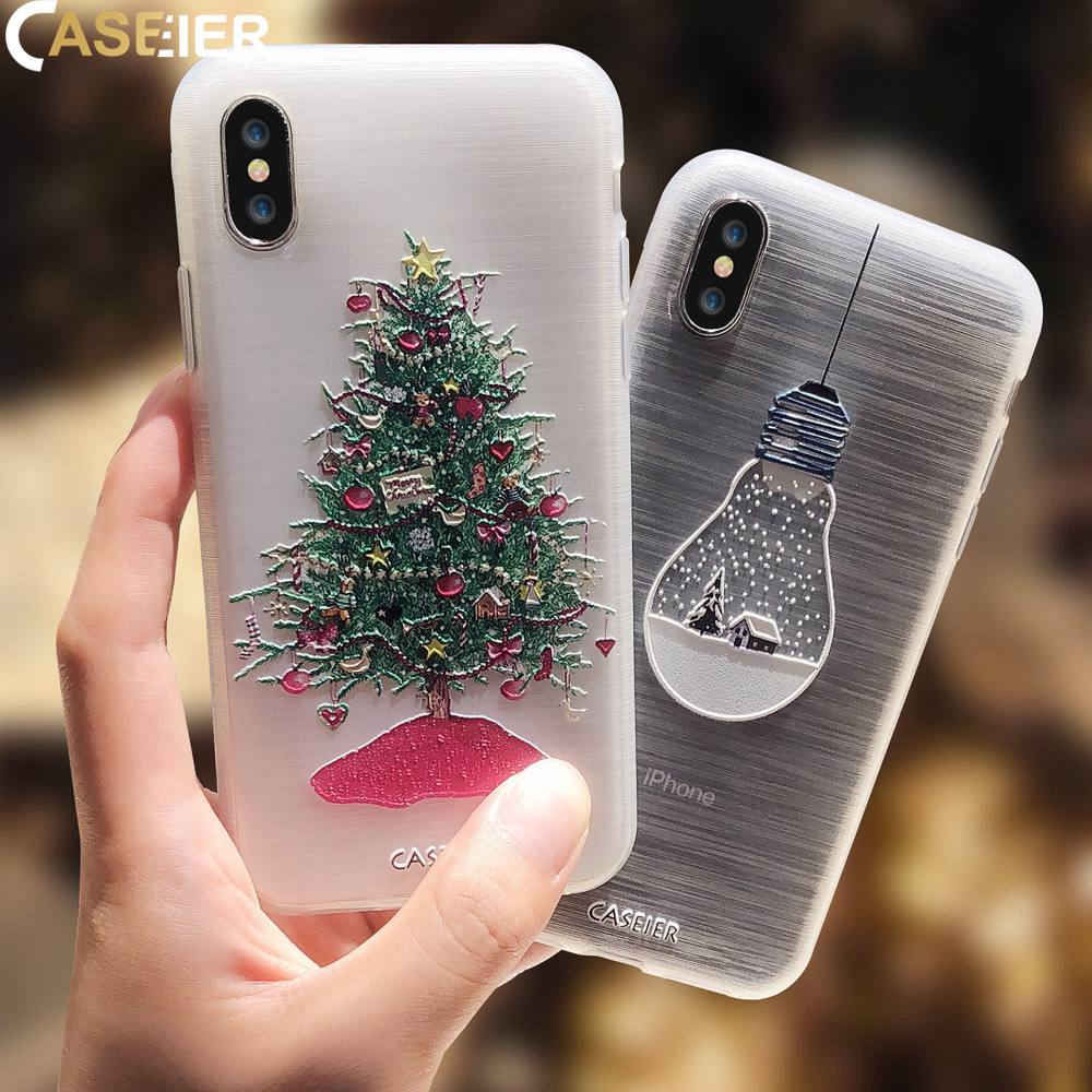 CASEIER New Year blessing Case For iPhone X XS MAX XR Soft Siicome Matte Case For iPhone 8 7 6 6s Plus 5s Funda Shell Cover Capa iPhone
