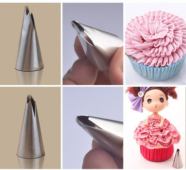 Stainless Steel Icing Tips Ruffle Decoration Piping Nozzles Cakes Cupcakes  Cake Tool Decorating Tips#050