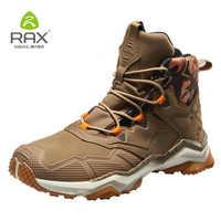Rax Männer Wanderschuhe herren Stiefel Wasserdicht Taktische Stiefel für Männer Berg Outdoor-Sport Schuhe Aus Echtem Leder Wanderschuhe Leichte