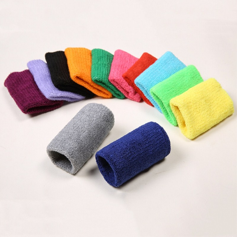 1pc Wristbands Sport Sweatband Hand Band Sweat Wrist Support Brace Wraps Guards For Gym Volleyball Basketball Teennis Hot