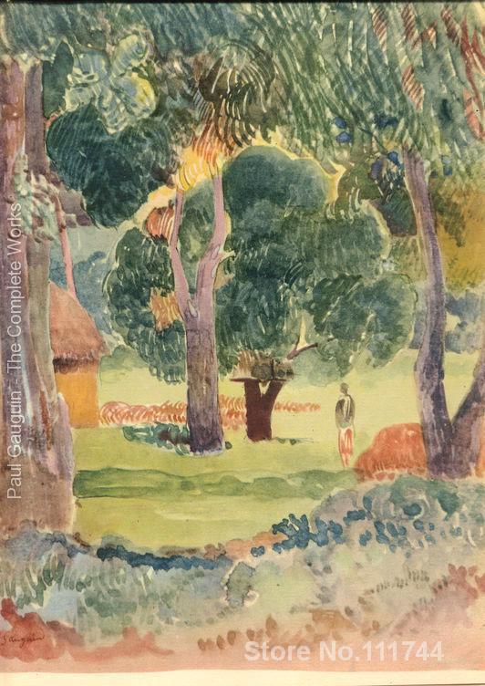 Peintures de Paul Gauguin aquarelle 24 œuvre paysage art de haute qualité peint à la main