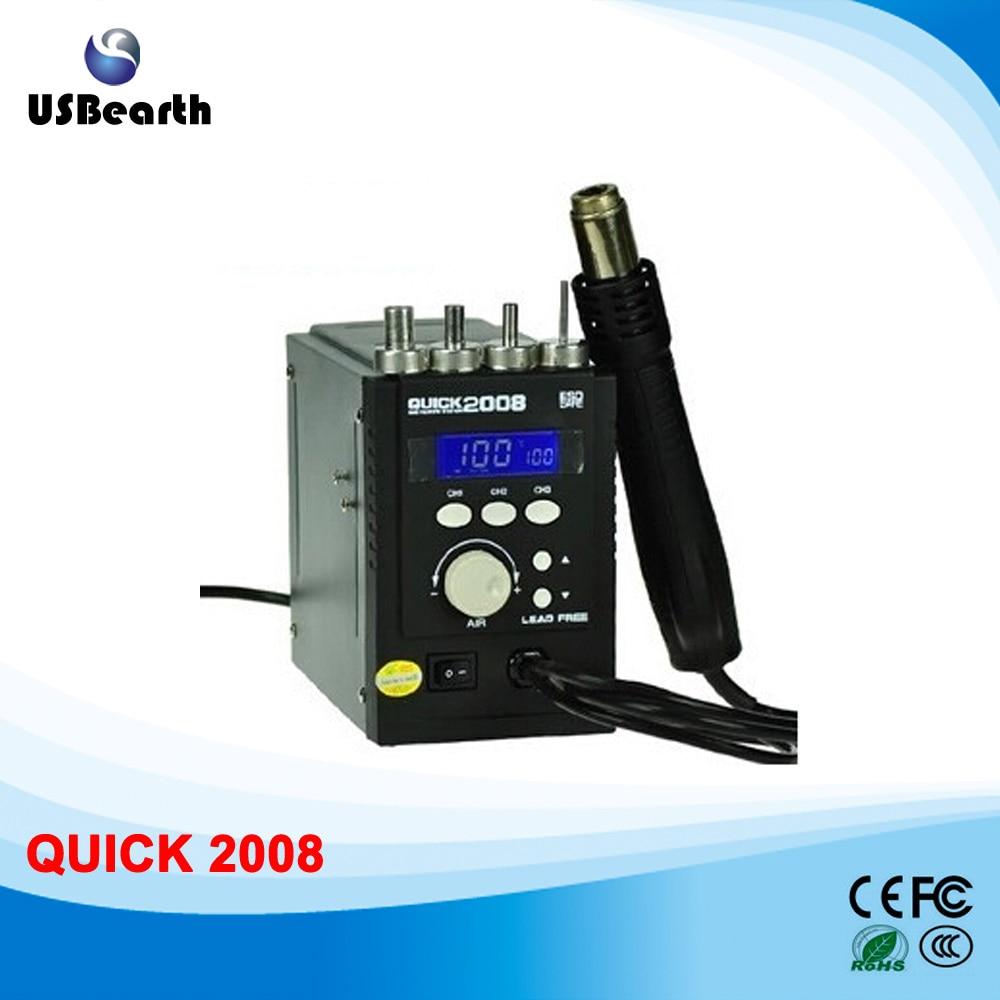 QUICK 2008 bga soldering station with hot air gun welding machine