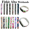 24 Colors Graphic Silicone Fitbit Alta Band Wristband Strap Bracelet Watch DIY Replacement Large & Small Fitbit Alta Sports Band