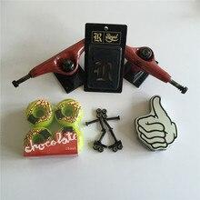 Skateboard Parts ELEMENT 5.25″ Trucks & Chocolate 51mm Wheels Bro Style ABEC-3 bearings Plus Royal Riser Pads & A Hardware Set