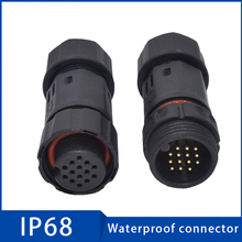 1PC Cable Waterproof Connector 2/3/4/5/6 pin Male Female Plug Socket Sealed Retardant Electrical 10.5mm Wire Connectors for Cars